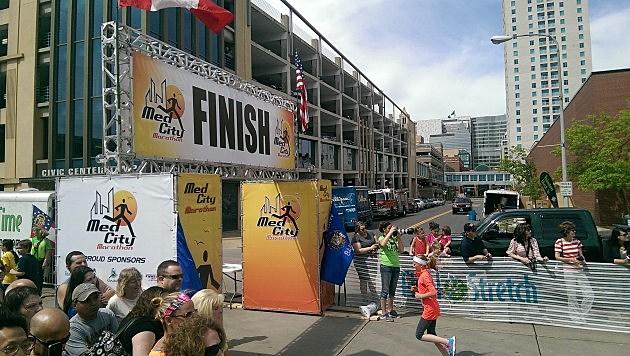 med city finish line