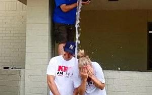 Dunken and Samm doing ice bucket challenge on Monday, August 18th