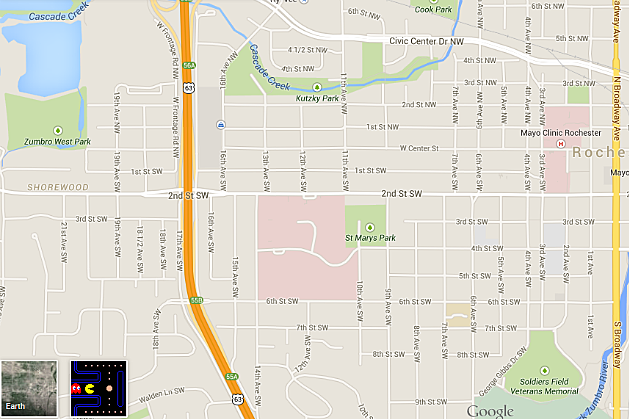 Turn a Google Map of Rochester into Your Very Own PacMan Maze Video