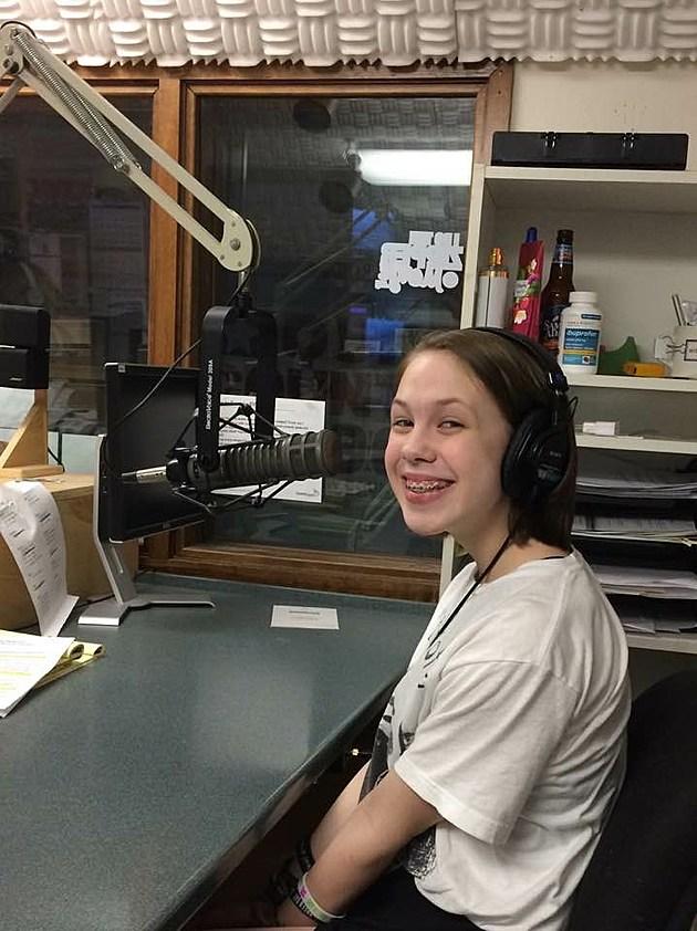 Cora in the KROC studio
