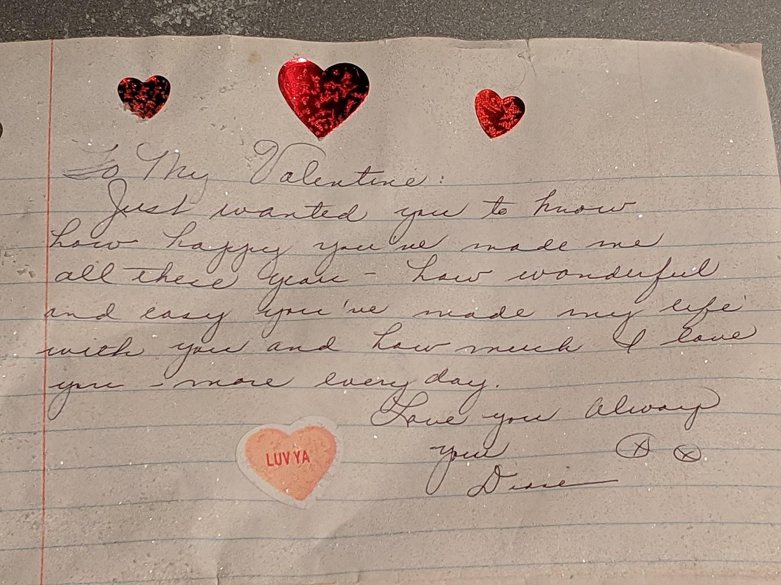 Love letter found in snow byron minnesota diane